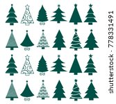 vector seamless christmas tree... | Shutterstock .eps vector #778331491