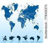 world map. europe asia america... | Shutterstock .eps vector #778332271