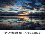 winter sunset reflected in a... | Shutterstock . vector #778332811