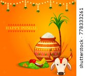 happy pongal religious festival ... | Shutterstock .eps vector #778333261