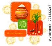 happy pongal religious festival ... | Shutterstock .eps vector #778333267