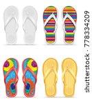 beach slippers stock vector... | Shutterstock .eps vector #778334209