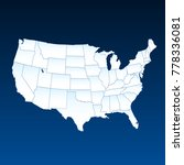 united states of america map.... | Shutterstock .eps vector #778336081