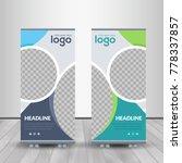 banner roll up design  business ... | Shutterstock .eps vector #778337857