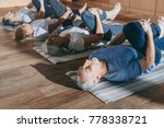 group of senior people... | Shutterstock . vector #778338721