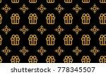 christmas symbols seamless...   Shutterstock .eps vector #778345507