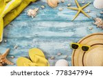 high angle view of summer ... | Shutterstock . vector #778347994