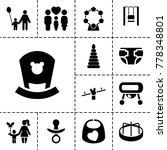 childhood icons set of 13