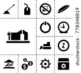 round icons. set of 13 editable ... | Shutterstock .eps vector #778348819