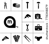 fix icons. set of 13 editable... | Shutterstock .eps vector #778348879