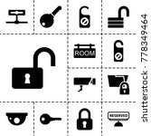 private icons. set of 13... | Shutterstock .eps vector #778349464