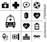 emergency icons. set of 13... | Shutterstock .eps vector #778349665