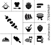 gourmet icons. set of 13... | Shutterstock .eps vector #778349689