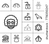 circus icons. set of 13... | Shutterstock .eps vector #778350247