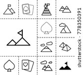 peak icons. set of 13 editable... | Shutterstock .eps vector #778350391