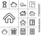 residence icons. set of 13... | Shutterstock .eps vector #778350397