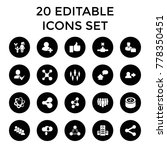 social icons. set of 20... | Shutterstock .eps vector #778350451