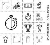 sport icons. set of 13 editable ... | Shutterstock .eps vector #778350481
