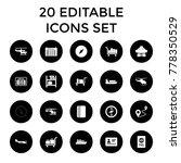 journey icons. set of 20... | Shutterstock .eps vector #778350529