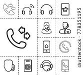call icons. set of 13 editable... | Shutterstock .eps vector #778351195