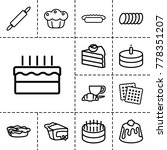 pastry icons. set of 13... | Shutterstock .eps vector #778351207