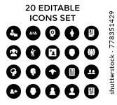 profile icons. set of 20...