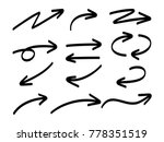 hand drawn marker arrows... | Shutterstock .eps vector #778351519