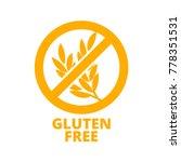 gluten free icon. vector round... | Shutterstock .eps vector #778351531