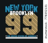 new york typography  t shirt... | Shutterstock . vector #778352131