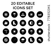 weather icons set of 20