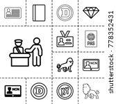 identity icons. set of 13...