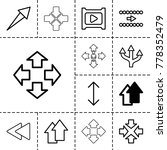 next icons. set of 13 editable... | Shutterstock .eps vector #778352479