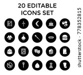 traditional icons. set of 20... | Shutterstock .eps vector #778352815