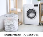 laundry basket and washing... | Shutterstock . vector #778355941