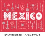 trendy poster mexico with... | Shutterstock .eps vector #778359475