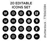 jackpot icons. set of 20... | Shutterstock .eps vector #778363384