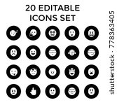 expression icons. set of 20... | Shutterstock .eps vector #778363405