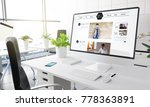 computer with personal blog... | Shutterstock . vector #778363891