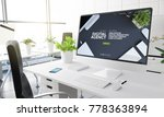computer with digital agency... | Shutterstock . vector #778363894
