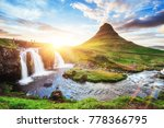 the picturesque sunset over... | Shutterstock . vector #778366795