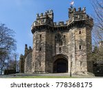 Small photo of Lancaster Castle is a medieval castle located in Lancaster in the English county of Lancashire. Its early history is unclear, but may have been founded in the 11th century on the site of a Roman fort.