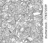 cartoon cute doodles latin... | Shutterstock .eps vector #778372039