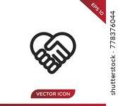 handshake icon vector ... | Shutterstock .eps vector #778376044