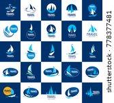 vector logo yacht | Shutterstock .eps vector #778377481
