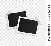 rectangle photo frames on... | Shutterstock .eps vector #778381465