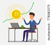 concept of crypto currency.... | Shutterstock .eps vector #778382575