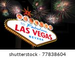 welcome to las vegas sign with... | Shutterstock . vector #77838604