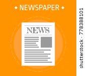 newspaper news. vector...   Shutterstock .eps vector #778388101