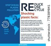 stop ocean plastic pollution...   Shutterstock .eps vector #778389841