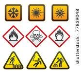 warning symbols and hazard... | Shutterstock .eps vector #77839048